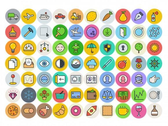 unigrid_100_free_flat_icons