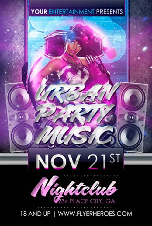 free_urban_party_music_flyer_template