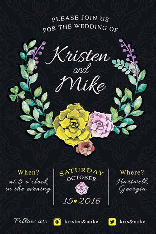 vintage_flowers_wedding_invitation_free_flyer_template