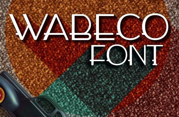 wabeco_free_font