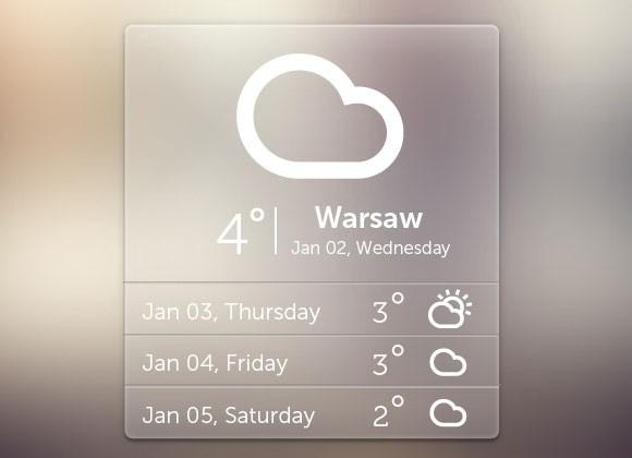 free_psd_weather_widget