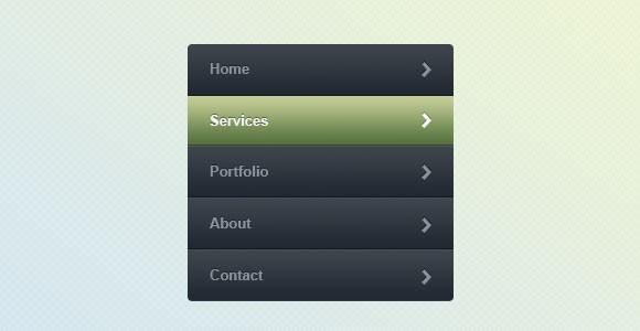 web_menu_free_psd