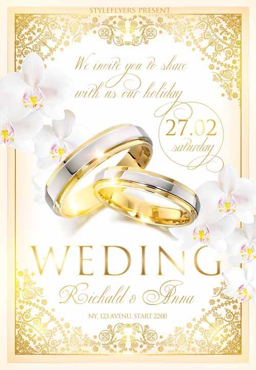 Beautiful  Free Wedding Flyers Templates  Utemplates