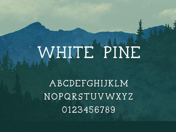 white_pine_free_font