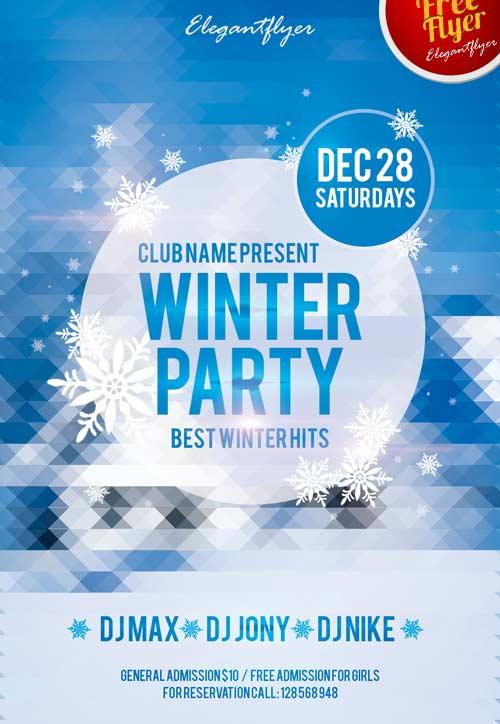 winter_free_club_flyer_psd_template