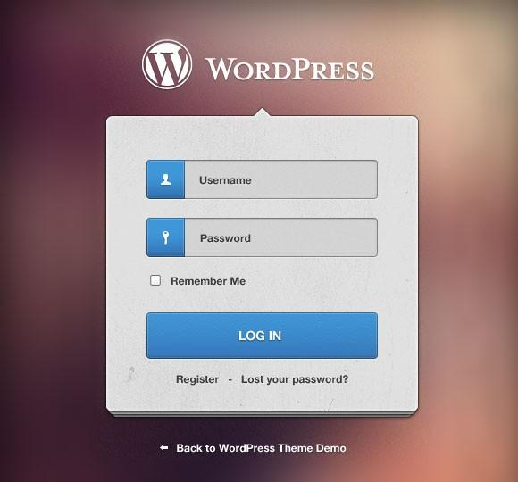 wordpress_login_form_psd
