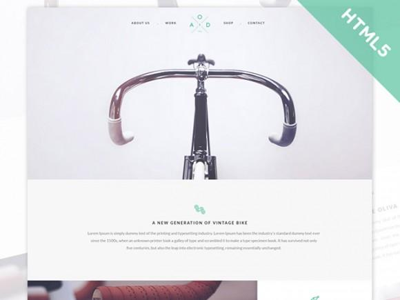 bicycle_flat_html5_css3_template