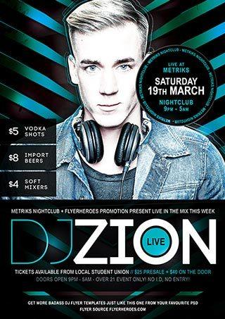 free_zion_free_dj_psd_flyer_template
