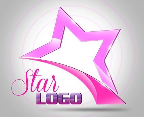 3d_star_logo_free_psd_template