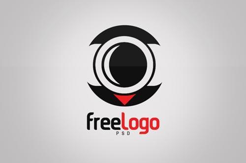 free_camera_lens_logo_template