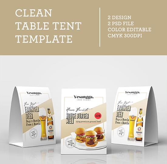 8free Clean Table Tent Template Free