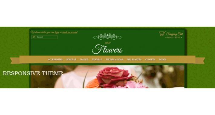 flowers shop responsive