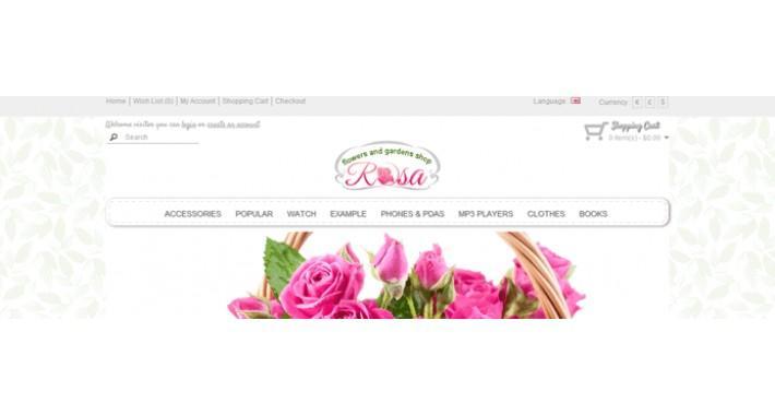 rosa responsive template