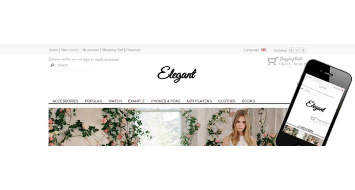 elegant responsive shop