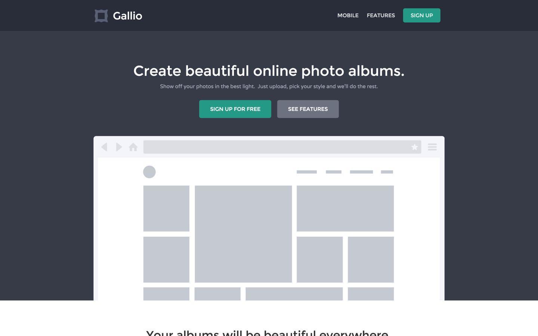 gallio free webflow template