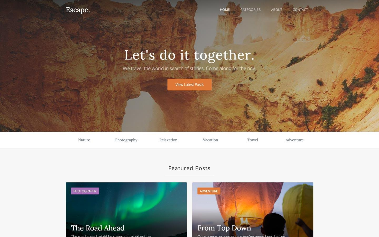 escape free webflow template