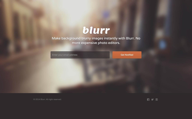 blurr free webflow template