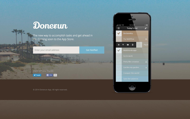 donerun free webflow template