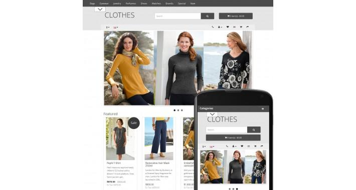 free clothes gray opencart template