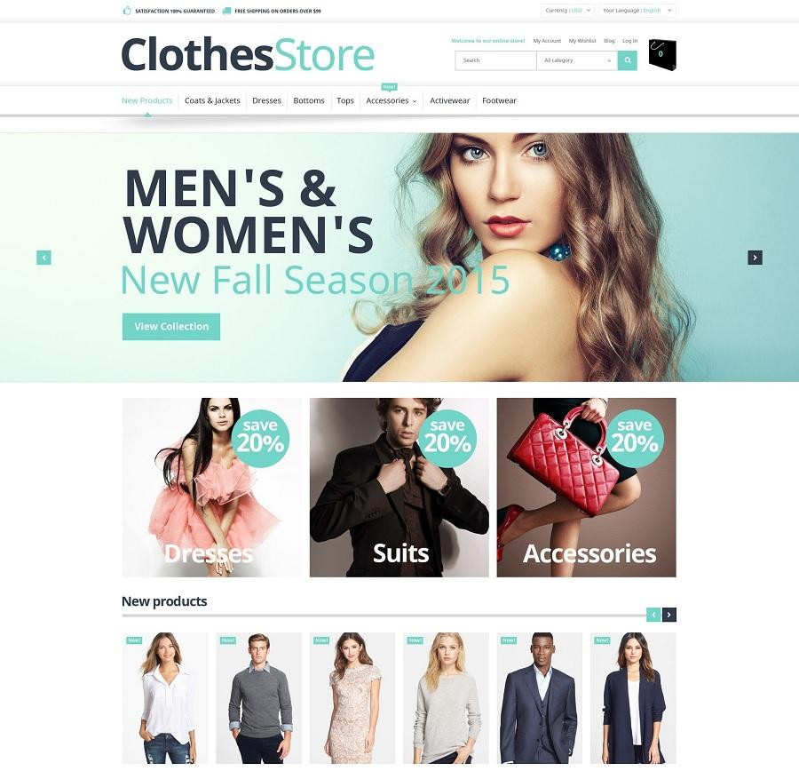 clothes store free magento template free magento template