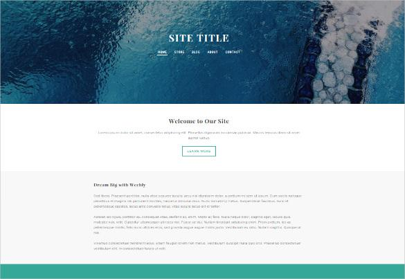 creative free weebly template