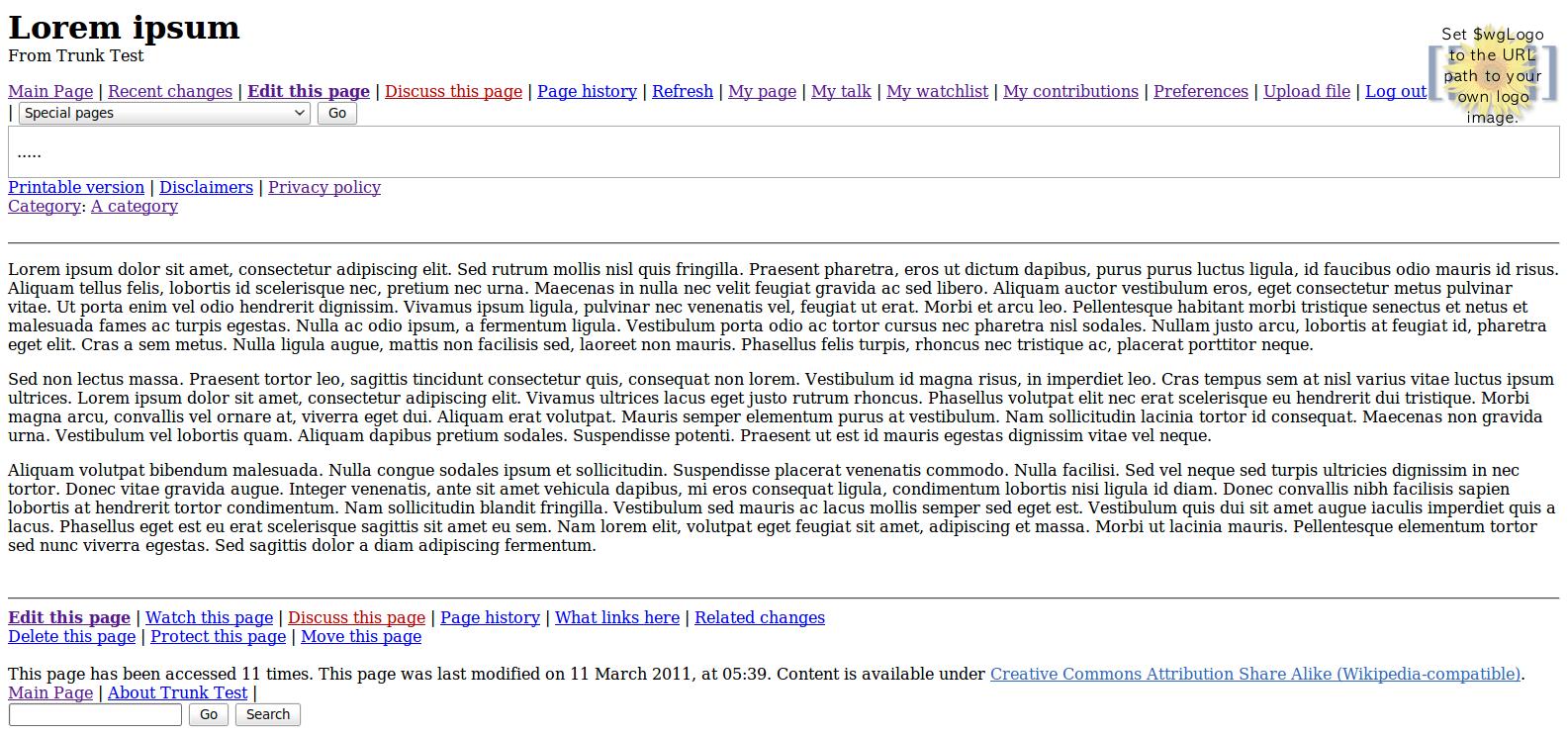 Nostalgia mediawiki template