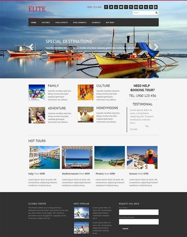 elite weebly template and template