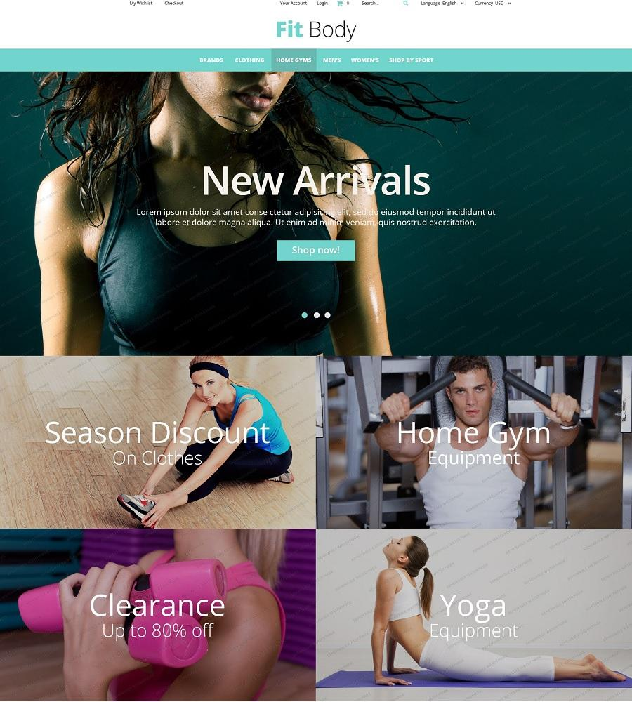 fitness magento free template