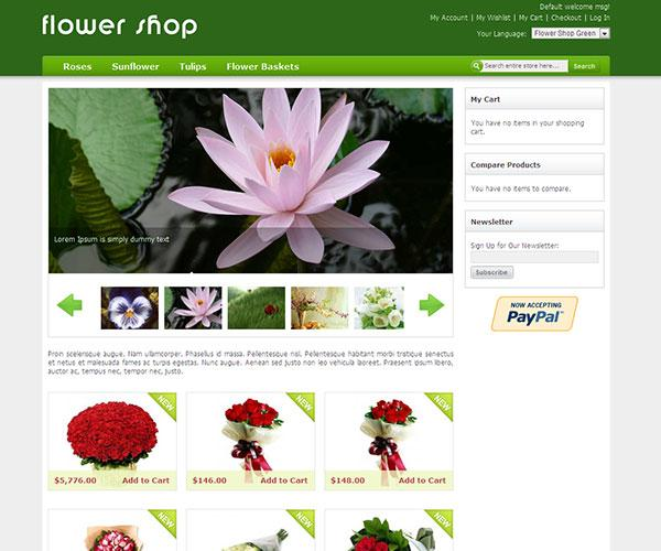 flower shop free magento template