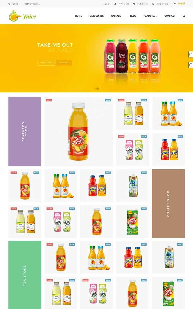 ap juice free prestashop template