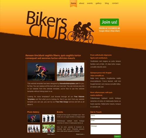 20 free html css sports website templates utemplates for Simple html templates free