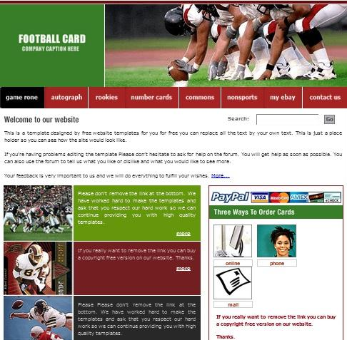 football_card_free_css_template_for_sports_website