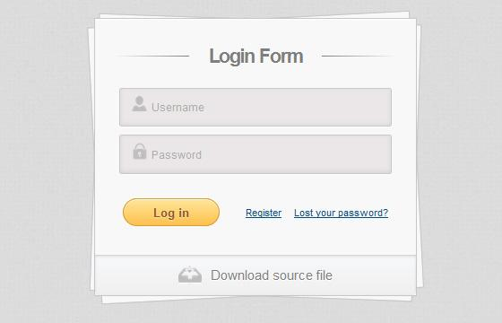 login_form_using_html_and_css