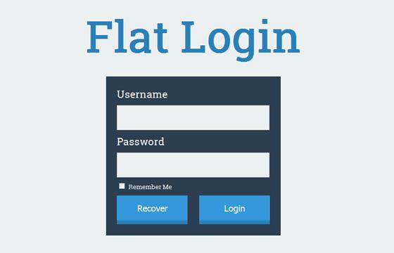 login_form_with_flat_desing