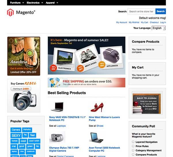 magento responsive template
