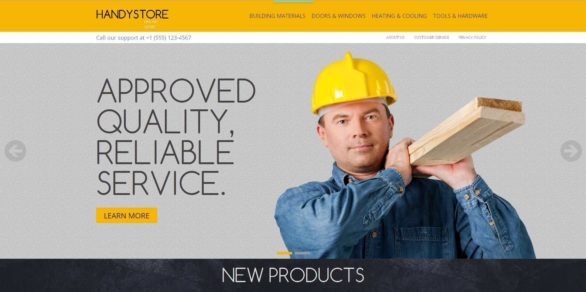 handystore magento template
