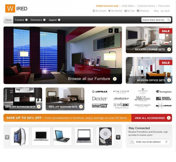 hellowired magento template