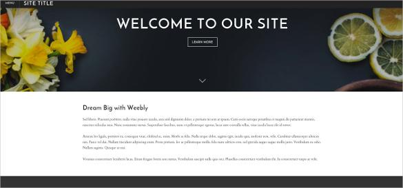 impressive free weebly template
