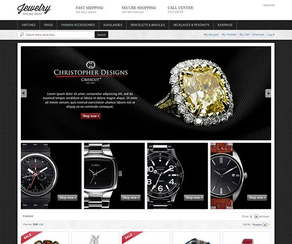 jewelry free magento template