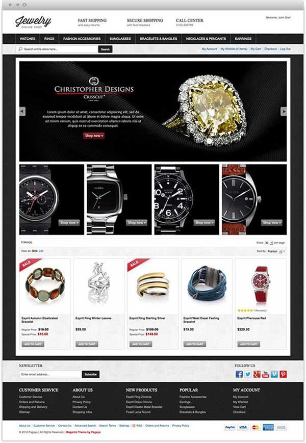 electronic online free magento template