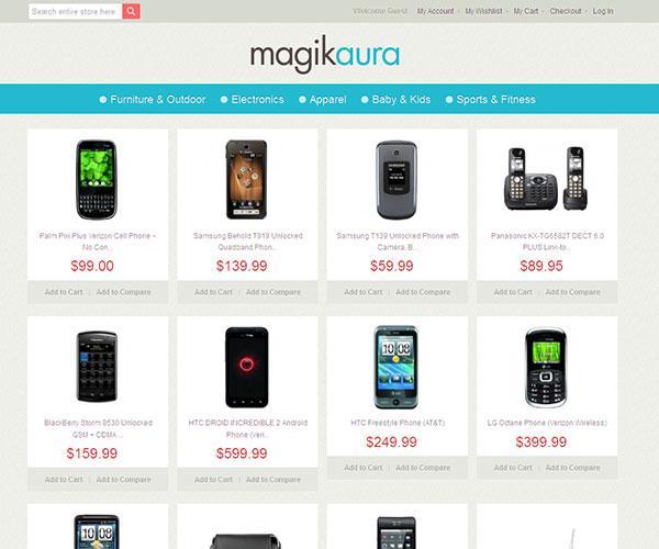 magik aura free magento template
