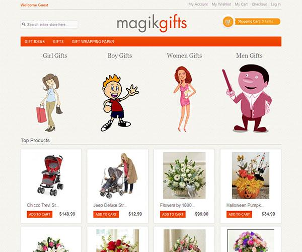 magik gifts free magento template