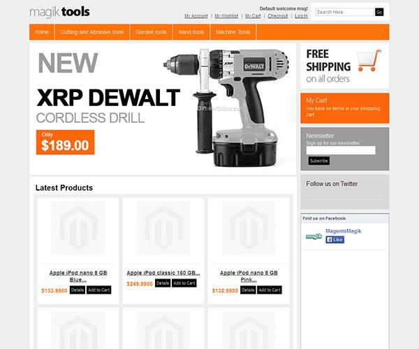 magik tools free magento template