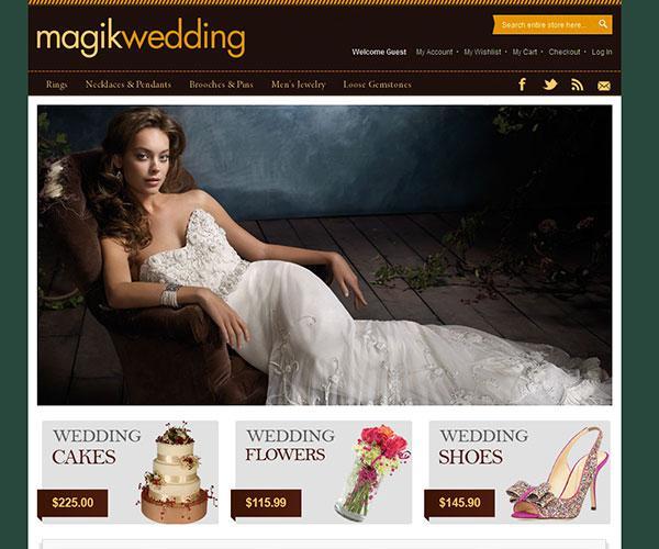 magik wedding free magento template