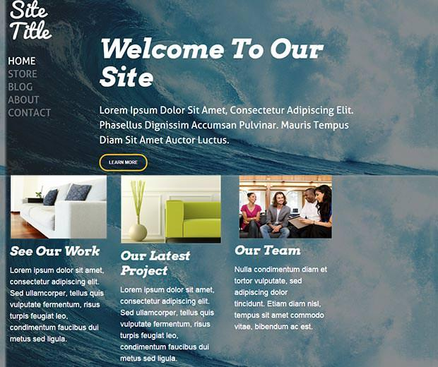 open weebly template