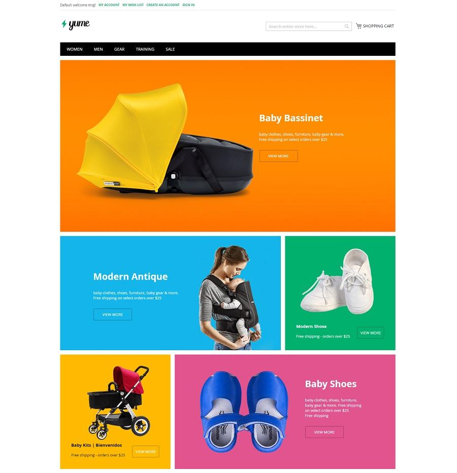 ves yume free magento template