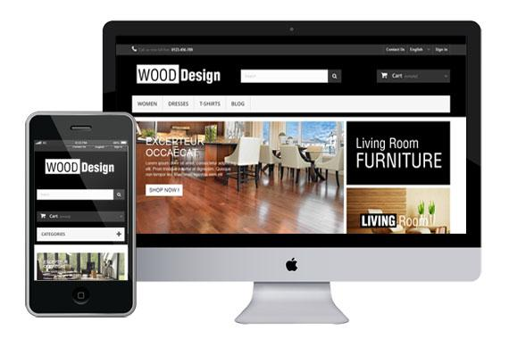 wood free prestashop template
