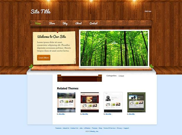 woodylicious weebly template