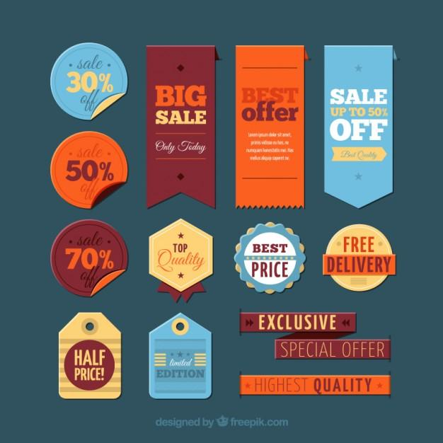 ticket coupon sale tag psd template