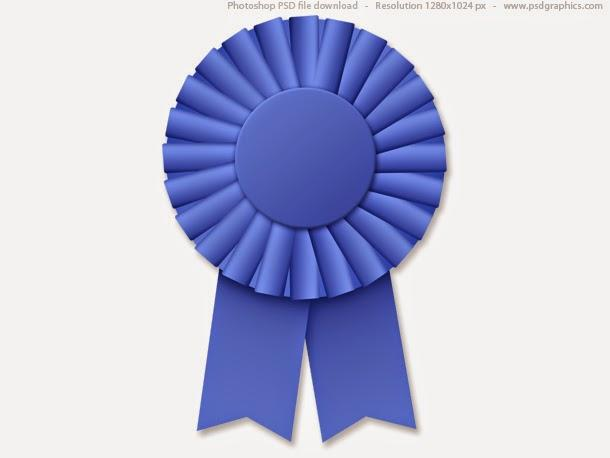 free_blue_ribbon_rosette